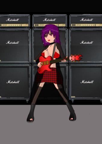 Girl Rock By Nephara