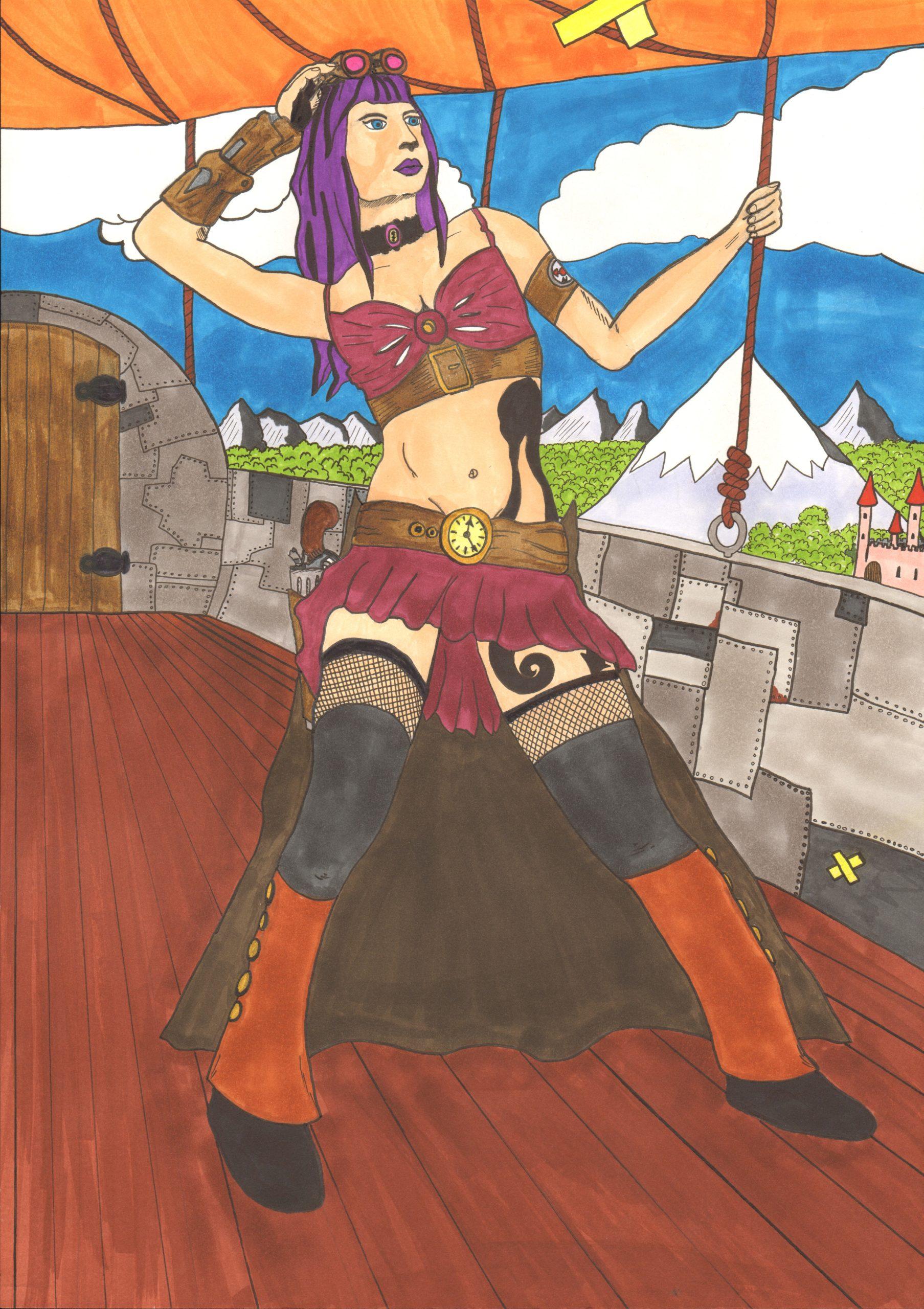 Steampunk traveler By Nephara