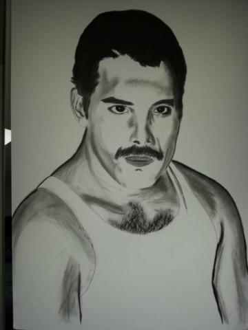 Freddie Mercury Charcoal By Nephara 2014