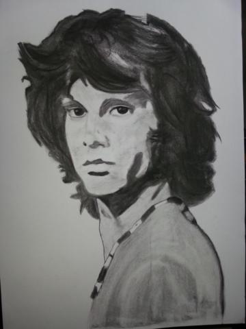 Jim Morrison Charcoal By Nephara 2014