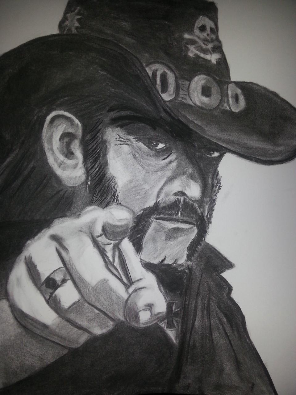 Lemmy Kilmister Motörhead Charcoal By Nephara 2014