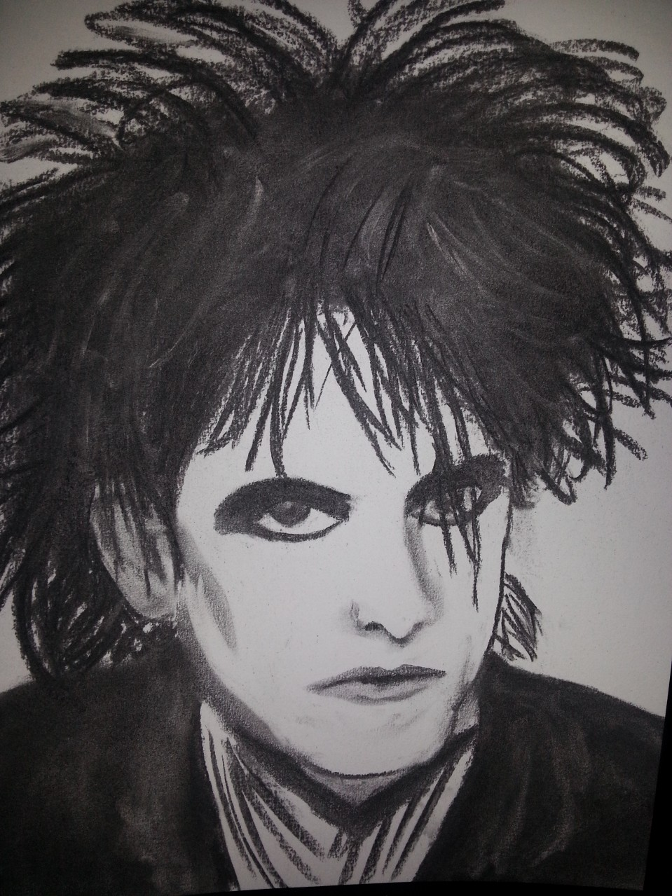 """Robert Smith """"The Cure"""" Charcoal By Nephara 2014"""