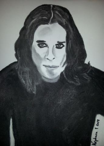 """Ozzy Osbourne """"Black Sabbath"""" Charcoal By Nephara 2014"""