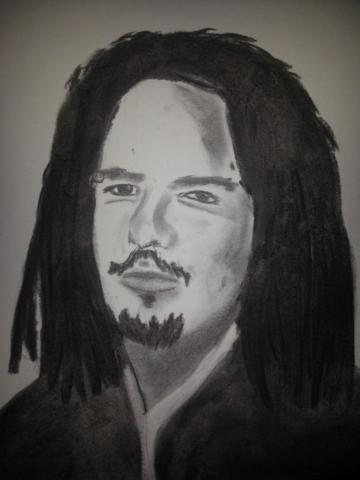 "Jonathan Davis ""Korn"" Charcoal By Nephara 2014"