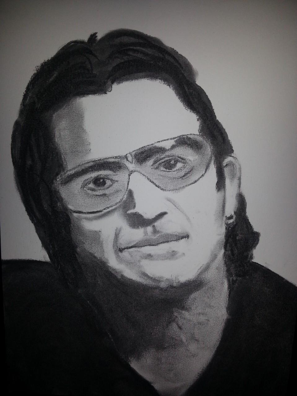 "Bono ""U2"" Charcoal By Nephara 2014"