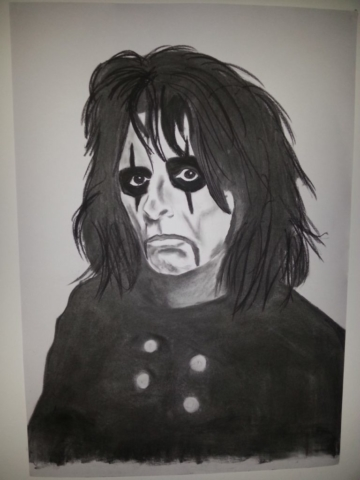 Alice Cooper Charcoal By Nephara 2014