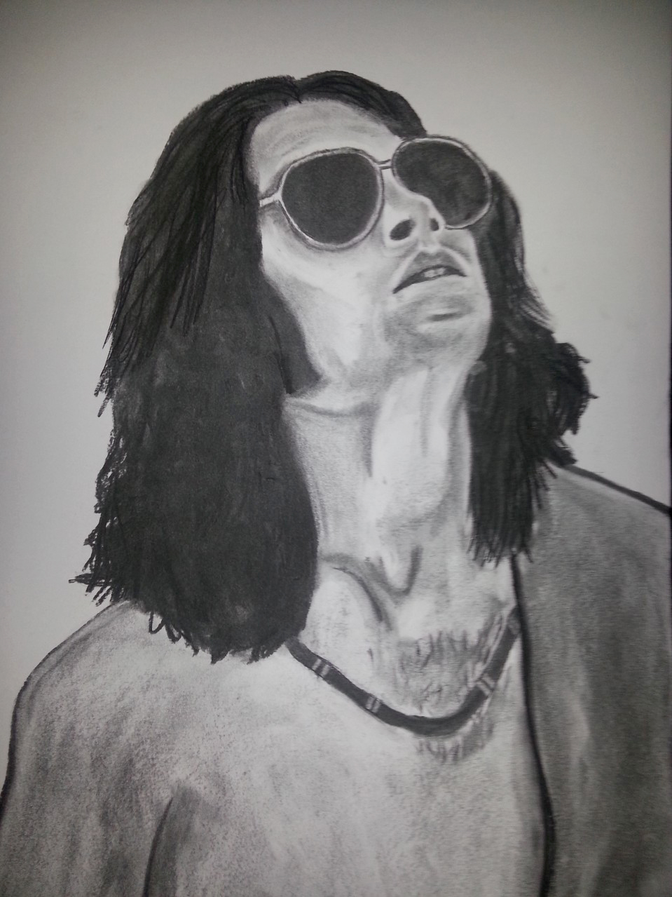 """Jim Morrison """"The Doors"""" Charcoal By Nephara 2014"""