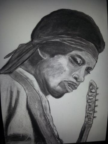 Jimi Hendrix Charcoal By Nephara 2014