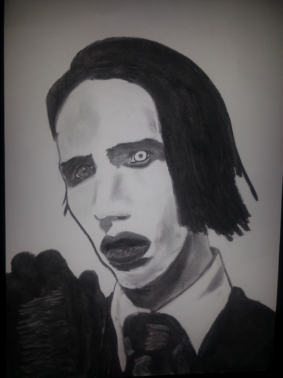 Marilyn Manson Charcoal By Nephara 2014