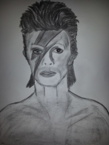 David Bowie Charcoal By Nephara 2014