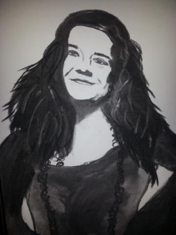 Janis Joplin Charcoal By Nephara 2014